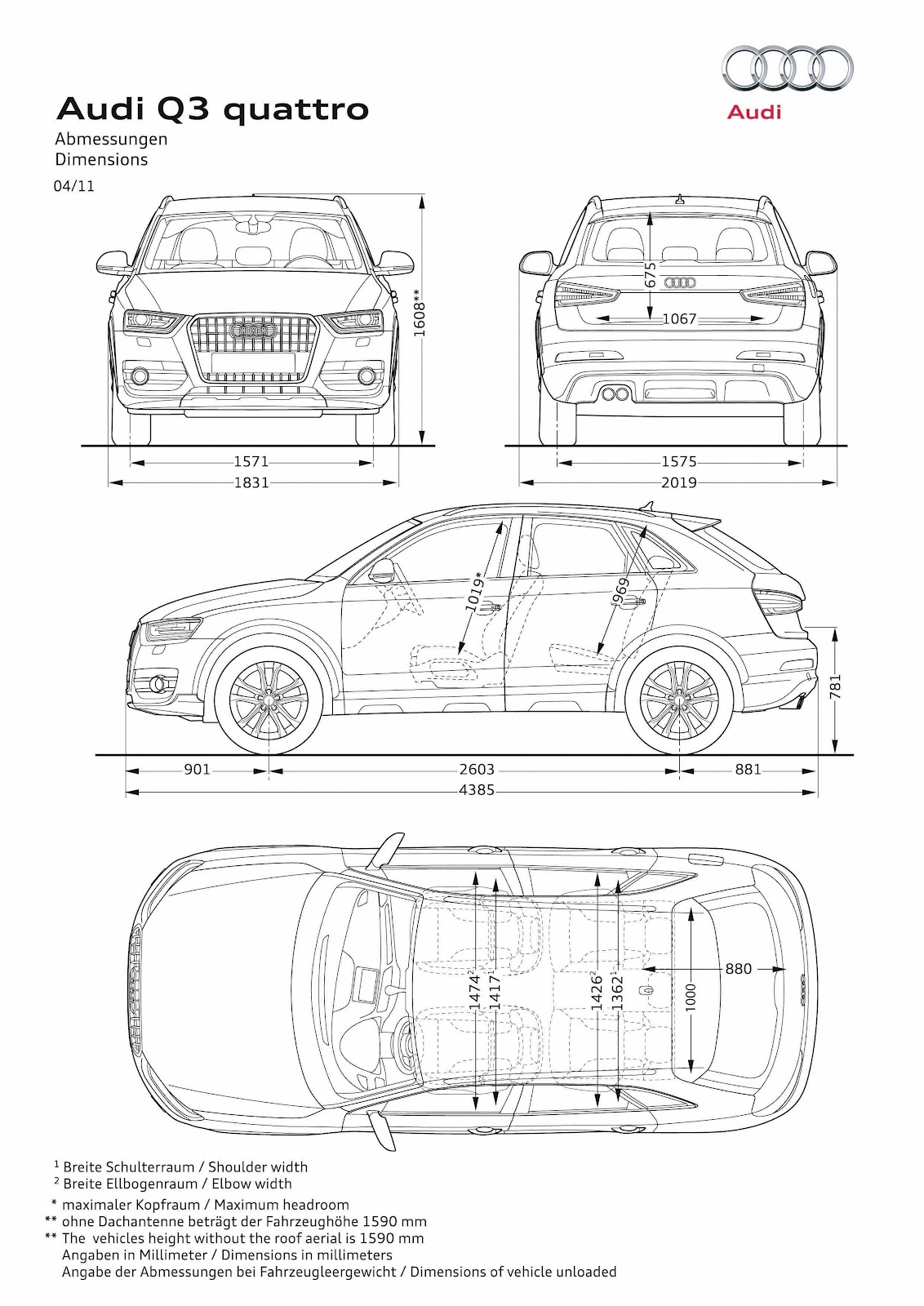 0 to 62mph. OFFICIAL.: 2012 Audi Q3 quattro: The Pictures