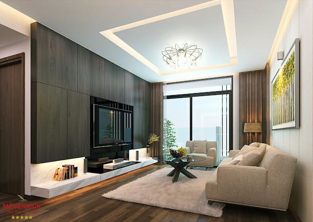 Phòng khách chung cư Movenpick Đà Nẵng