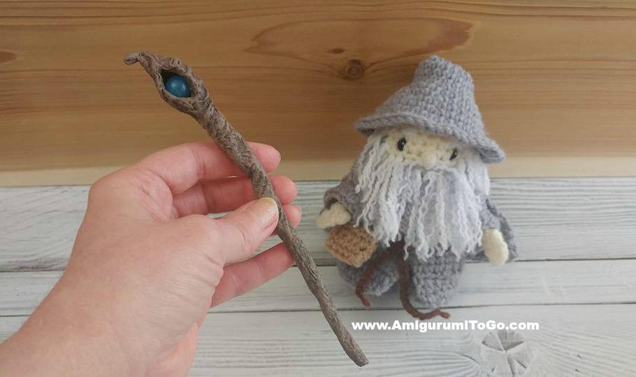Amigurumi Freely Fb : The wizard's staff ~ amigurumi to go