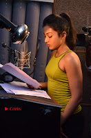 Actress Catherine Tresa Pos during Self Dubbing for Gautham Nanda Movie  0053.JPG