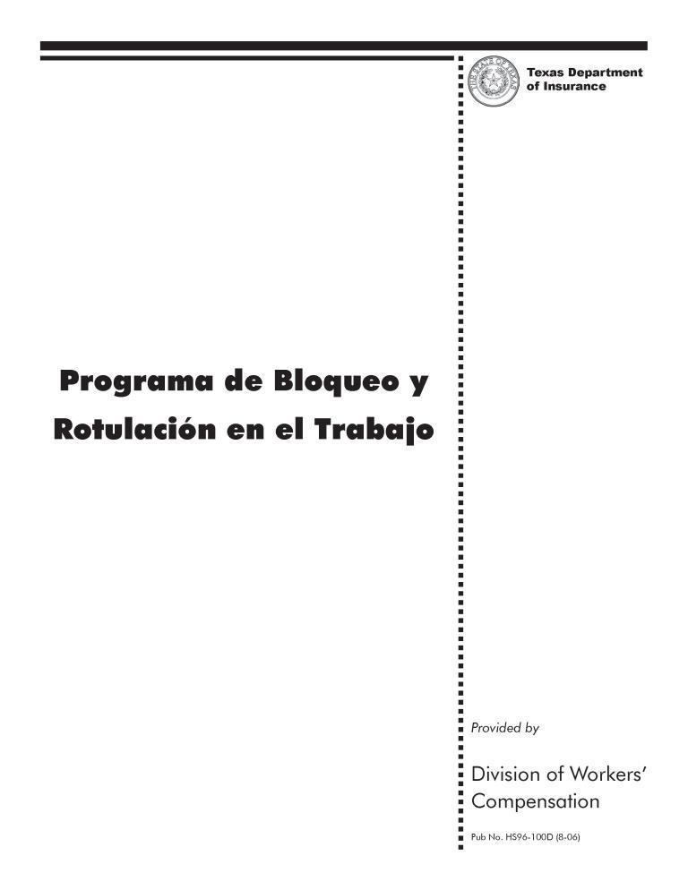 Programa de bloqueo y rotulación en el trabajo