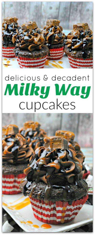 Delicious and Decadent Milky Way Cupcakes