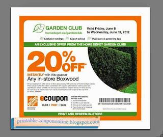 Free Printable Home Depot Coupons