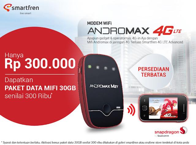Internetan Lebih Mudah Dengan Paket Andromax 4G