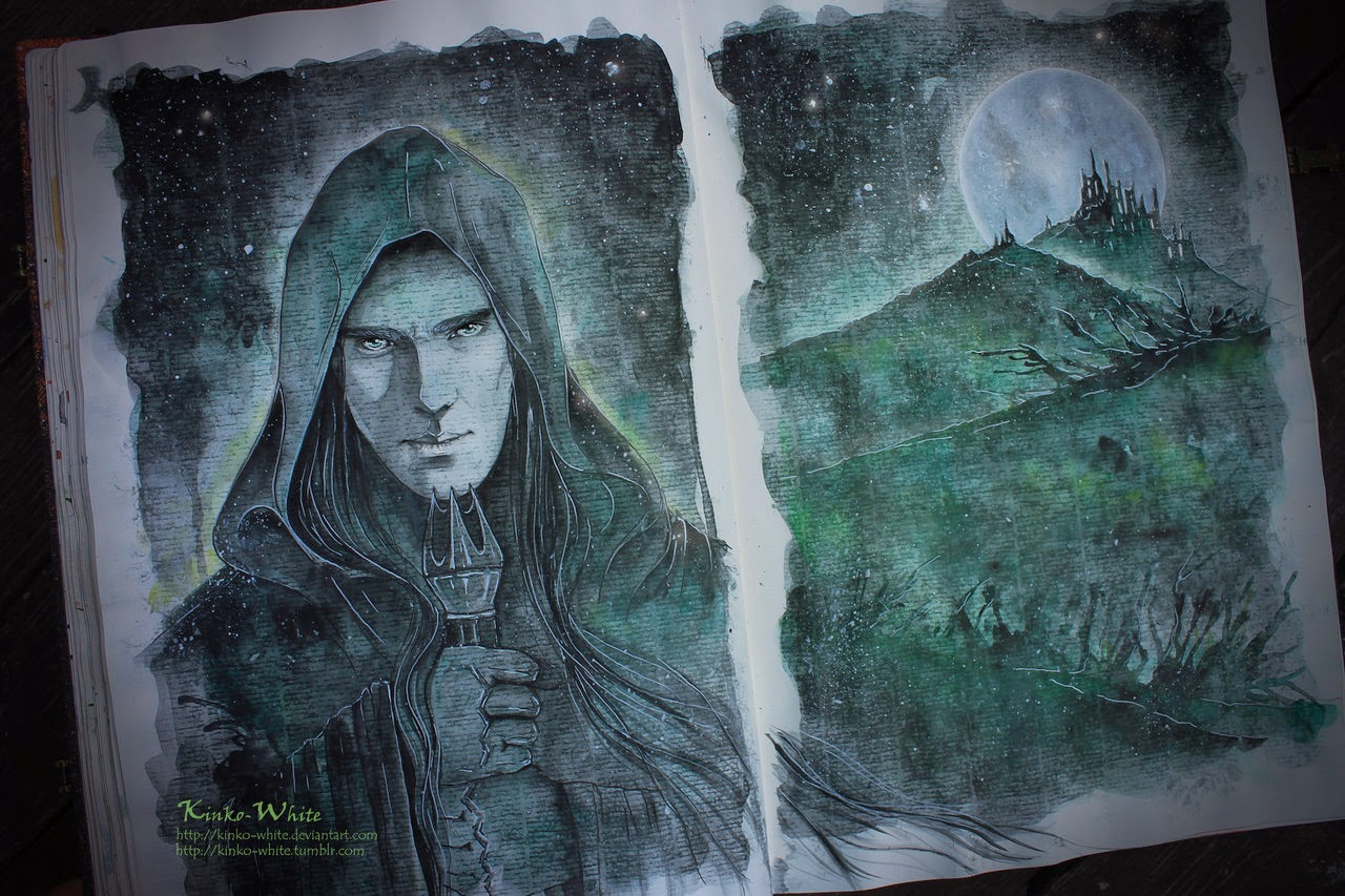07-The-Necromancer-of-Dol-Guldur-Kinko-White-The-Hobbit-Watercolors-www-designstack-co