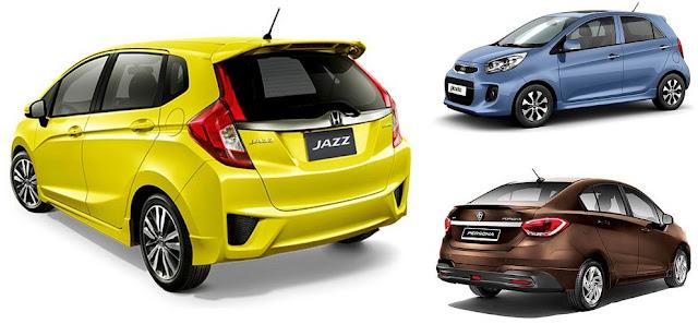 Kereta Paling Jimat Minyak di Malaysia 2016 - Honda Jazz, Kia Picanto, Proton Persona