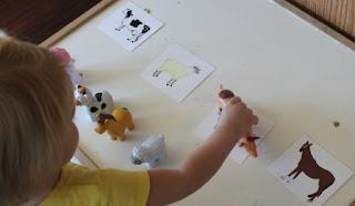 toddler activity animal matching
