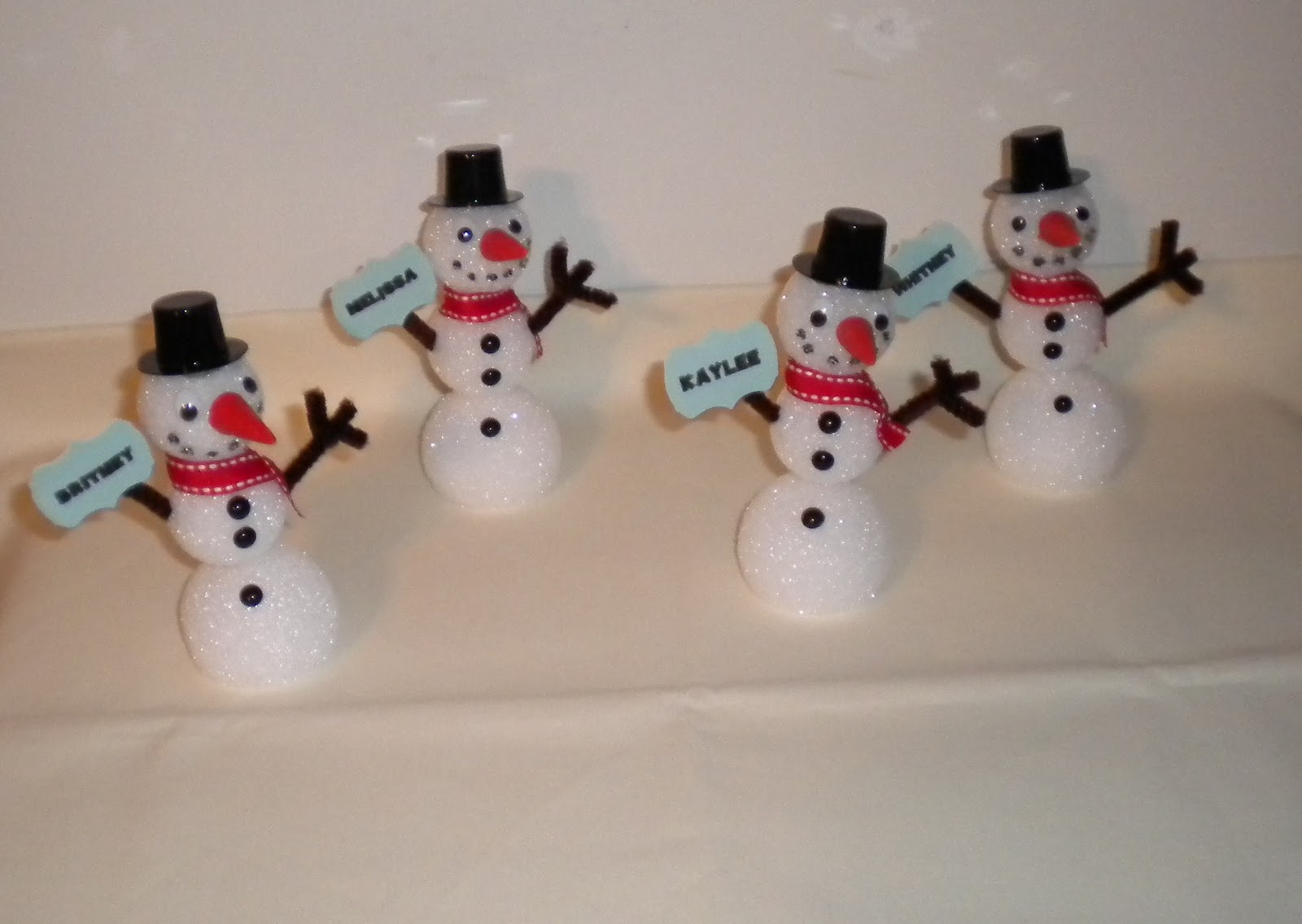 To Make These I Started Out With Small Styrofoam And A Skewer You Will Need 1 Ball Sized 2 Inches For Each Snowman