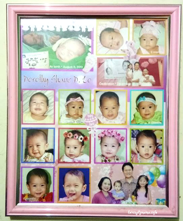 baby's first year picture frame - bedroom wall decor