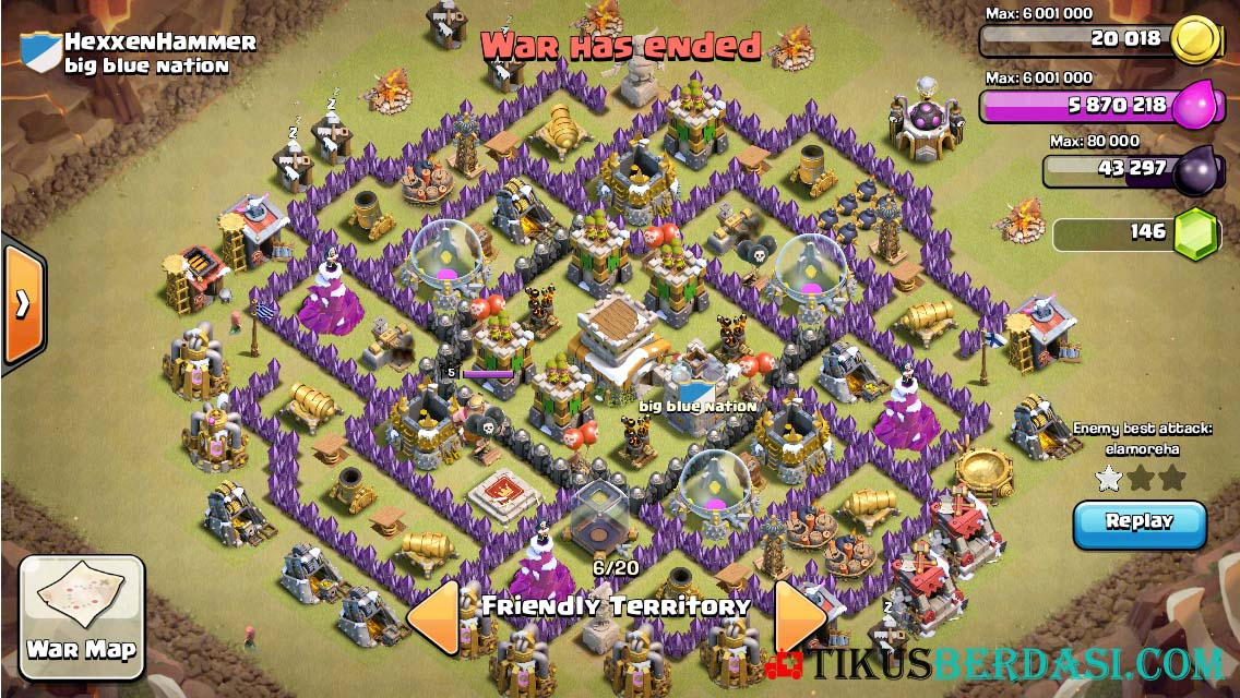 Base Coc Th 8 Anti Darat 8