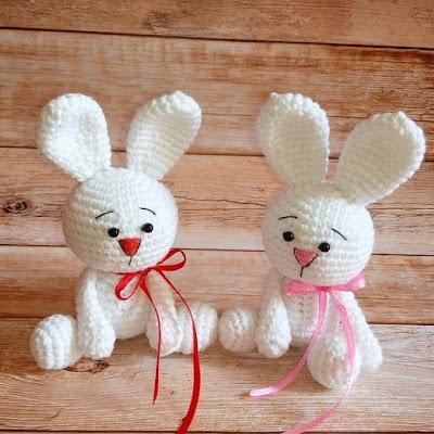 Кролики амигуруми схема крючком