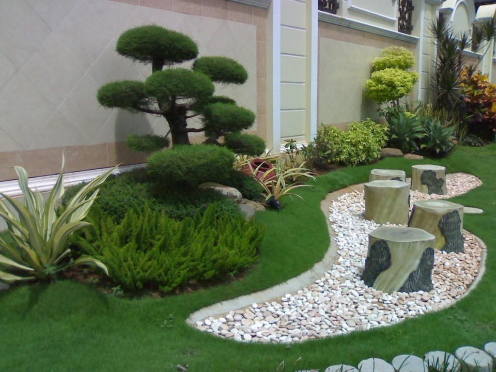 33 Desain Taman Depan Minimalis Modern Rumahku Unik