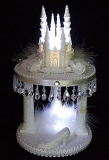 Castle Fairy Tale Light Up Wedding Cake Topper