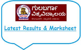 Gulbarga University Results Nov Dec 2018