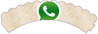 Wrappers para cupcakes de WhatsApp.