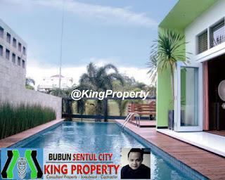 Rp.7.5 Milyar Dijual Rumah Mewah + S POOL View Danau Di Sentul City (Code:261)