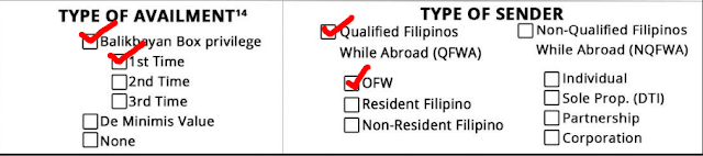 "The ""balikbayan box"" remains Tax Exempt. The rules governing the privilege is under the Customs Modernization and Tariff Act (CMTA). This law was passed last June 2016 and was implemented December 2016.  According to CMTA, the following are qualified to avail of the tax free privilege: OFWs registered with the DOLE/POEA Filipino who has dual citizenship Filipino businessmen, investors working or students studying abroad Filipinos who are temporarily staying abroad for not less than six months  To avail of the Tax Free privilege, the sender must submit a copy of his/her passport (identity page). A Philippine or foreign passport may be used. In case of dual citizenship, a copy of proof of dual citizenship must also be submitted.  An information sheet provided by the Bureau of Customs must be filled up. Three copies must be furnished for each box or package to be sent. This will serve as the packing list of your cargo.  Items that are new and costing P10,000 and above must have the corresponding receipt, invoice or any proof of payment attached to the Information Sheet. Used items do not need receipts, and you may list them with an estimated price that is lower than the original price.  For a ""balikbayan box"" to remain tax free, it must only contain personal or household items. The quantity must not be commercial, and the purpose should not be for resale, barter or rental use.  A qualified Filipino may ""balikbayan boxes"" up to three times per calendar year (Jan 1 to Dec 31). The maximum total combined value of the tax free goods must be P150,000 for the whole year.  To avail of the tax free benefit, the ""balikbayan box"" recipient should be a family member or relative. This is to prevent smugglers from abusing the privilege intended for Filipinos.  A Filipino who is coming back to the Philippines ""for good"" has a higher maximum value cap for his cargo (with conditions): P350,000 if his/her stay abroad is ten years or more P250,000 if his/her stay abroad is five to almost ten years.  So if you want to send your balikbayan boxes Tax Free, Prepare a copy of your passport Prepare the Information Sheet (pages 1 & 2, three copies per box) Calculate the total amount of your cargo, making sure it does not exceed P150,000. Remember, if your cargo's value is less than P10,000, it automatically exempts it from tax, and the cargo does not count towards your limits in value or privilege use.  The BoC insists that the rights of OFWs are foremost in their minds, and that protecting the ""balikbayan box"" is the main purpose of these guidelines. Customs Commissioner Faeldon further reiterates that the boxes will not be opened, as ordered by President Duterte. Unless of course if the x-ray inspection shows something suspicious is in the box.  You may read Commissioner Faeldon's Clarification below:  STATEMENT ON THE BALIKBAYAN BOX ISSUES: Good morning po mga kababayan lalo na sa ating mga OFW, May balikbayan box program po tayo na TAX EXEMPTION para sa mga Pilipino na nais magpadala ng balikbayan box para sa kanilang pamilya. Hindi po ito mandatory. Para lang po ito sa mga nais mag avail ng BALIKBAYAN BOX TAX EXEMPTION. Pero yun gustong manatiling magbabayad ng buwis ay okay lang po yun kasi nakakatulong po kayo sa ating bayan sa pamamagitan ng inyong binabayad na buwis. June 2016 pa po naisabatas ng Kongreso ang Customs Modernization and Tariff Act (CMTA) at December 2016 pa po nailabas ang guidelines regarding balikbayan boxes. Naka apat na po kaming extension sa pagpapatupad nito. Just to clarify po ang pagffill up po ng information sheet at pagpprovide ng resibo, para lang po yun sa mga Pilipino na magpapadala ng balikbayan box sa kanilang pamilya na nais mag avail ng tax exemption under Sec 800 (g) ng CMTA. Mas makakatipid po kayo kung mag aavail po kayo ng tax exemption na ito kasi po under the balikbayan box program, tinanggal po ang buwis na babayaran nyo. Ang balikbayan box program po ay nagbibigay ng pagkakataon sa mga OFWs na magpadala ng P150,000 worth of household and personal effects sa loob ng isang taon na walang bayad na buwis. Ngayon po, ang information sheet ay kailangan fill up pan. Ito po ay parang packing list ngunit mas comprehensibo upang makasiguro kayo na tama ang matatanggap ng inyong pinaldalhan. Ngunit di po kailangan ang passport kung di po kayo mag avail ng tax and duty free exemption. Doon naman po sa mga nais mag avail, nakasaad po sa batas na kung ikaw ay Pilipino at nais mong magpadala sa iyong pamilya o kamag-anak, tax free po ito hanggang P150,000 sa loob ng isang taon. Ang paglilista po ng items nyo ay para po sa proteksyon ninyo. Ito po ay para masiguro na ang ipinadala nyo ay yun din ang matatanggap sa Pilipinas. Hindi po kailangan ng resibo pag used items, groceries, regalo, at sa mga bagay na mas mura Sa P10,000.00. Ang inyong kailangan ilagay ay tansya or approximate amount lamang. Halimbawa, ang t-shirt na una'y nabili ng P500.00 at gamit na ay pwedeng ideclara ng P100.00 pesos. Kailangan lang po ng resibo pag brand new at nagkakahalaga ng higit Sa P10,000.00 ang isang bagay. Ito po at pribileyiho at isang regalo ng gobyerno sa ating mga kababayan. Kaya po tayo'y nananawagan at umaapela sa likas na kabutihan ng ating mga kakababayan na wag po itong abusuhin. Para sa TUNAY NA PAGBABAGO. Maraming salamat po."