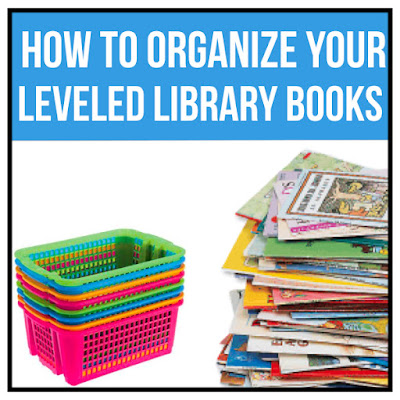 Organize your leveled library during your elementary classroom set up time before you get back to school. Your leveled guided reading texts will be ready in a bin with labels for kids to pick out just right books from the bookshelves based on reading level and color. #classroomsetup #classroomdesign