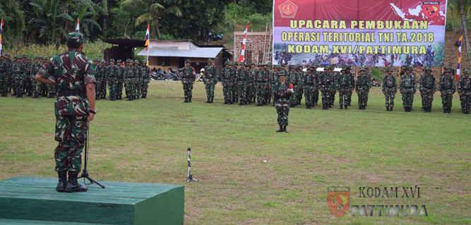 Operasi Teritorial (Opster) TNI dengan mengangkat sesanti Kalwedo di Wilayah Komando Resor Militer (Korem) 151/Binaiya, Komando Daerah Militer (Kodam) XVI/Pattimura Tahun Anggaran 2018 resmi dibuka oleh Pangdam XVI/Pattimura Mayjen TNI Suko Pranoto.