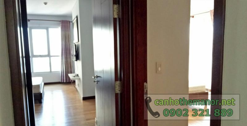 căn hộ cao cấp ở khu the manor tại tp hcm - lối vào phòng ngủ