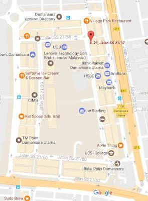 location map yanns beauty saloon