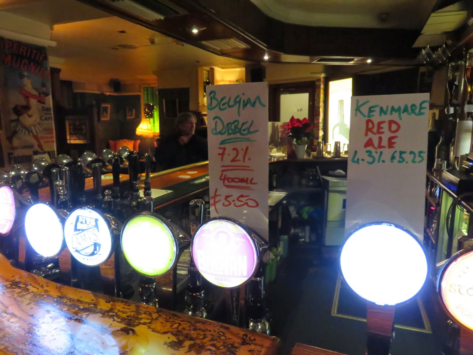 Irish Craft Beer Taps at 57 The Headline in Dublin