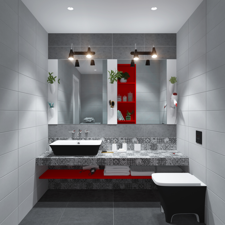 3D Дизайн-проект ванной комнаты