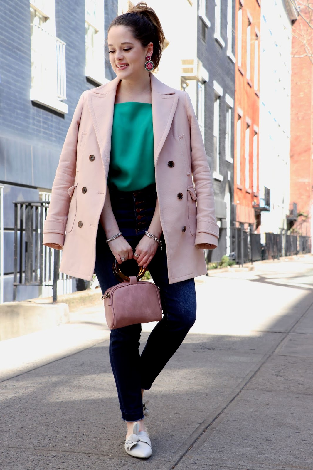 Nyc fashion blogger Kathleen Harper's spring street style in soho