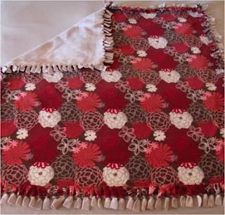 No Sew Fleece Blanket - Tutorial