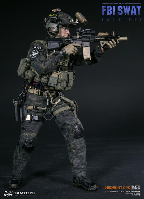 osw.zone Dam Toys 1 / 6. Scale FBI SWAT Team Agent San Diego Midnight Ops 12 inch figure preview