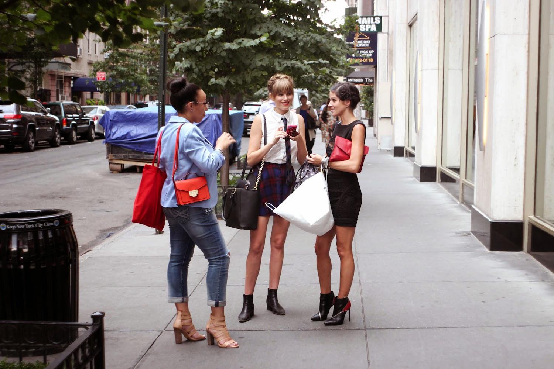 forever 21 plaid skirt, skinny tie, nyc vintage blogger, morgan avenue, dagne dover, ginger harris