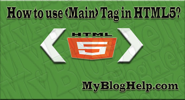 main tag in html5