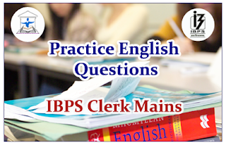 English Questions (Sentence Improvement) for Clerical Mains