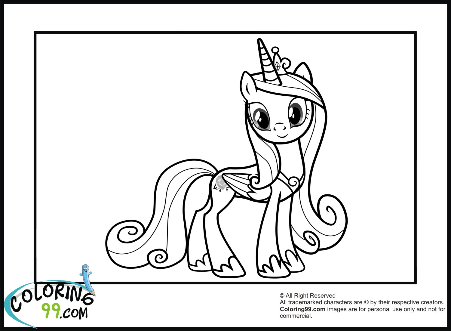 My Little Pony Coloring Pages Baby Cadence