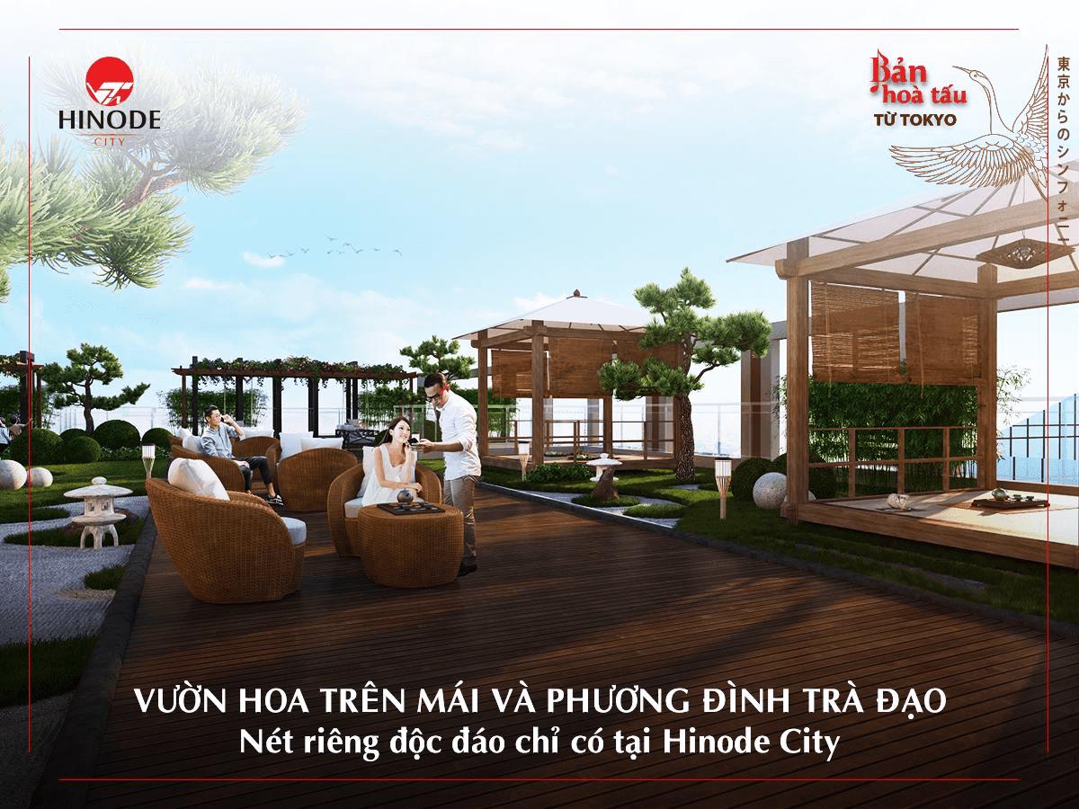 Sân vườn trên mái của dự án 201 Minh Khai
