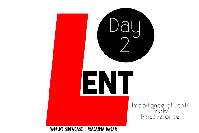 Lent Days - Day 2 post