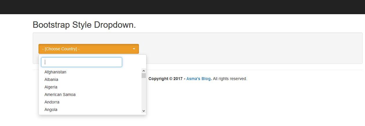 ASP NET MVC5: Bootstrap Style Dropdown Plugin - Asma's Blog