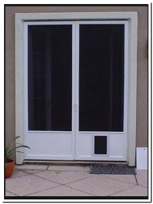 Patio Screen Door With Pet Entrance Sliding Design
