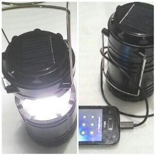 LAMPU KAMPING SOLARCELL ENERGI MATAHARI BISA BERFUNGSI SEBAGAI POWERBANK UNTUK MENCHARGE HANDPHONE