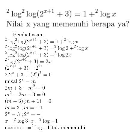 Contoh Soal Logaritma Dan Jawabannya Kumpulan Soal Pelajaran 7