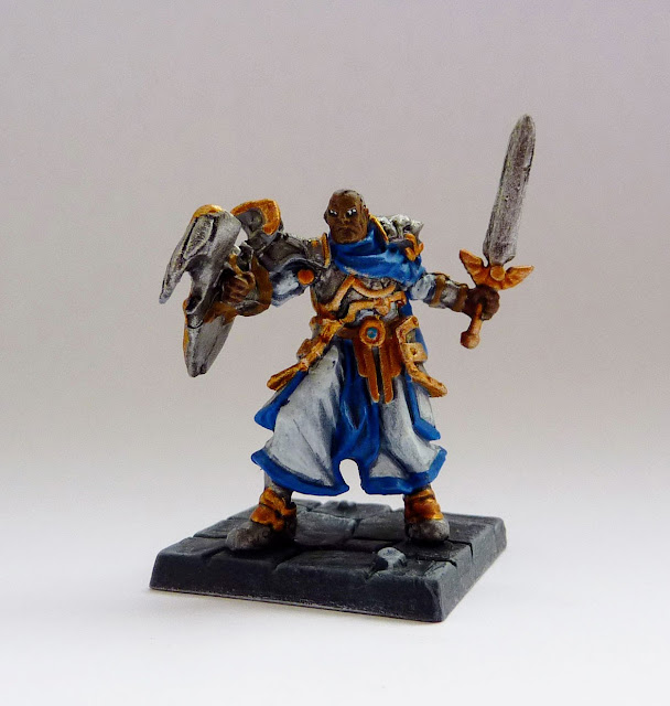 Ibrahim - human paladin from Tyrant of Halpi expansion for Mantic's Dungeon Saga