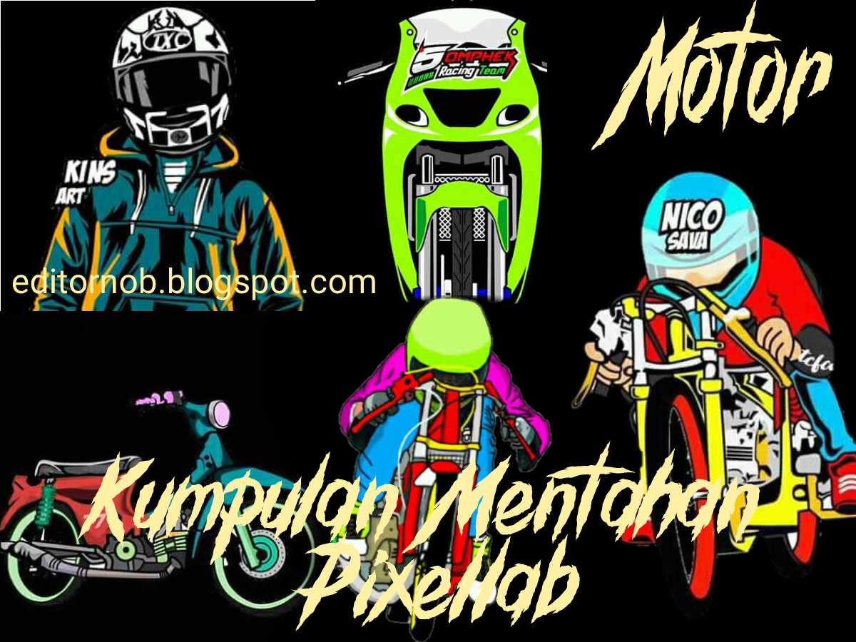 Download mentahan pixellab sticker motor racing hd terbaru