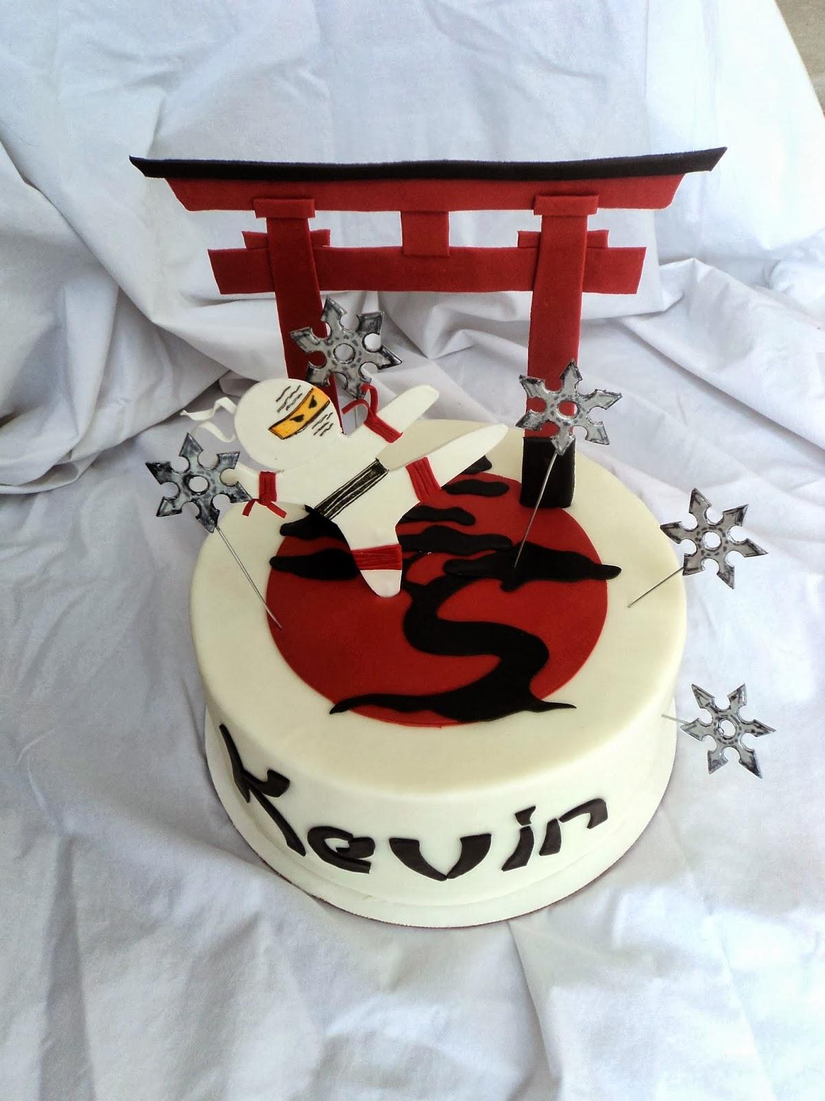 Delectable Cakes Ninja Birthday Cake