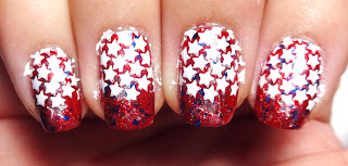 Star Stamped Nails