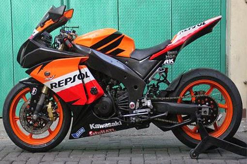 Foto Modifikasi Kawasaki Ninja 250R 2015