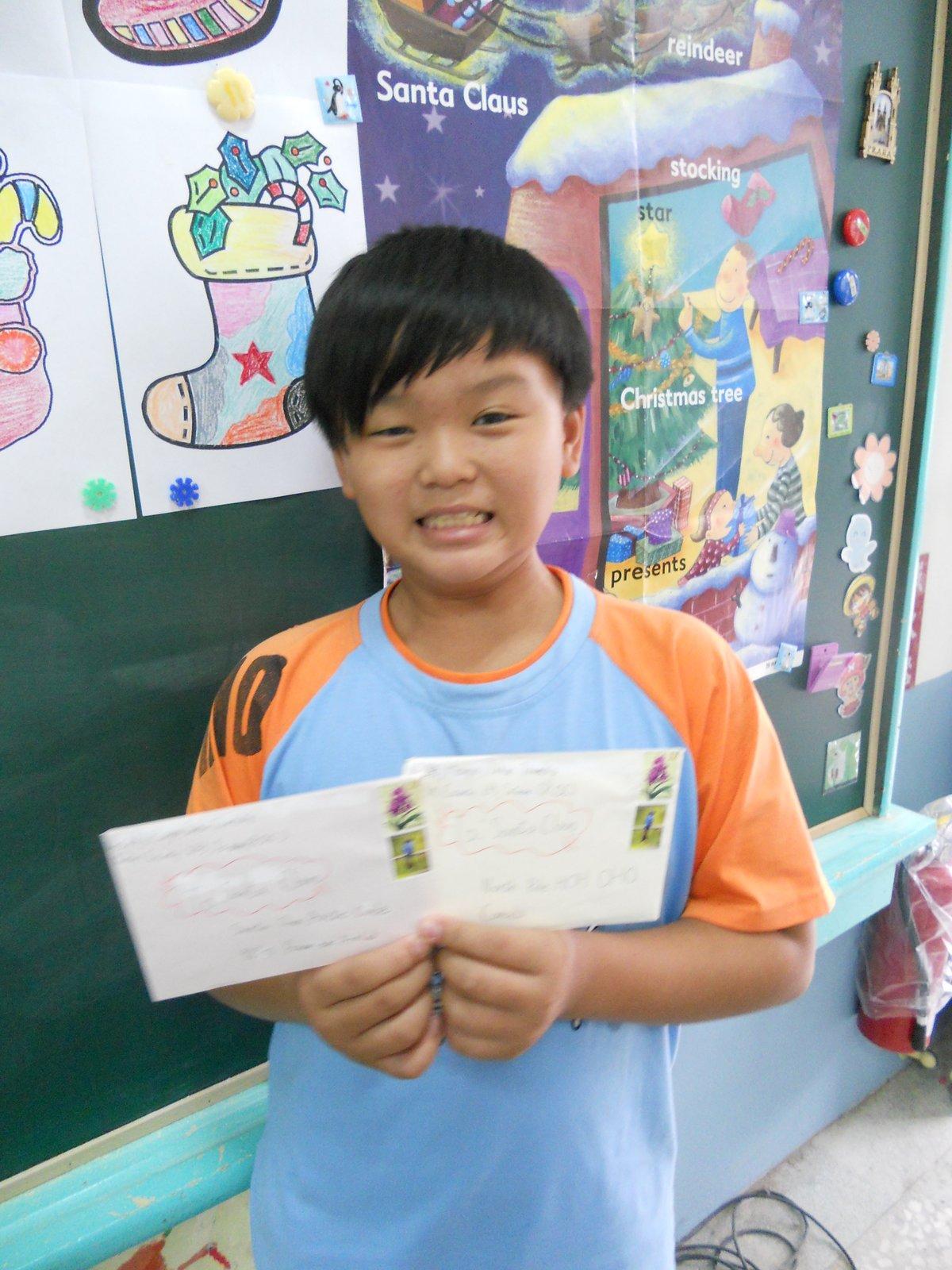 學校活動照片: 美勞英語融入:寫信給聖誕老人(實用美語)