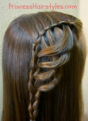 braiding hairstyles - folded feather