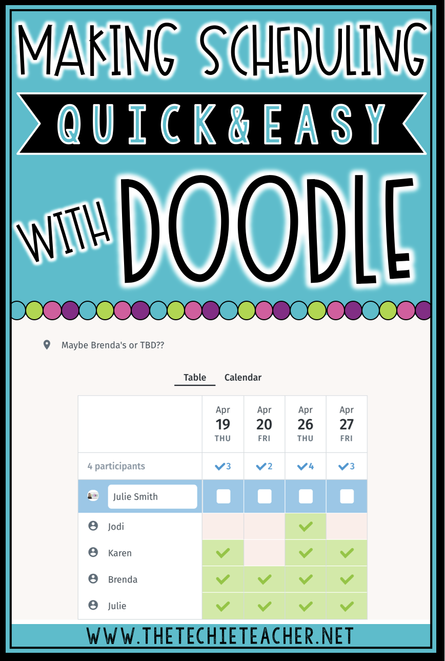 Come learn how you can make scheduling events and meetings quick and easy using the digital tool, Doodle.