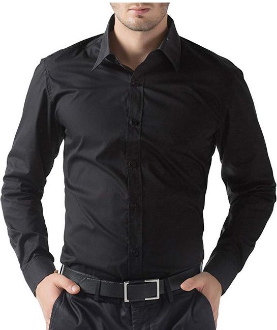 b671bbceaca Buy Online Men s Business Casual Long Sleeves Dress Shirts - Online ...