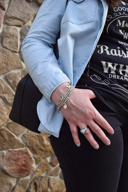 Sequins and Skulls: Sunday's Chambray